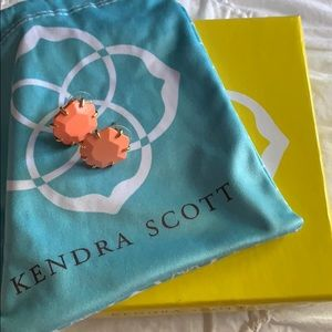 Kendra Scott Coral Gold Morgan Stud Earrings